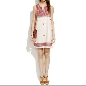 Madewell Stitchmosaic Embroidered Dress A5175